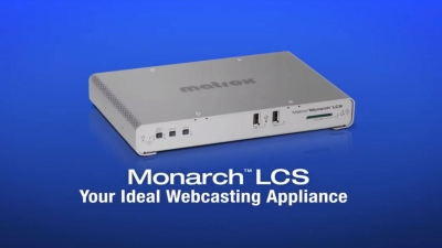 Live Webcasting Made Simple with Matrox Monarch LCS
