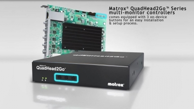 Matrox QuadHead2Go On-Device Buttons Demonstration