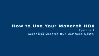 Accessing the Monarch HDX Command Center