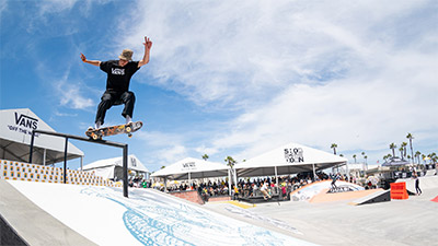 One of the competitors at the Vans Showdown men's competition
