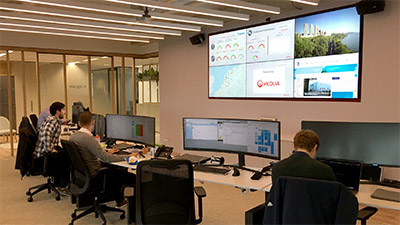 Veolia Netherlands' Matrox-powered video wall