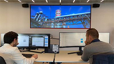 Energy flows' monitoring through Veolia Netherlands' Matrox-powered video wall