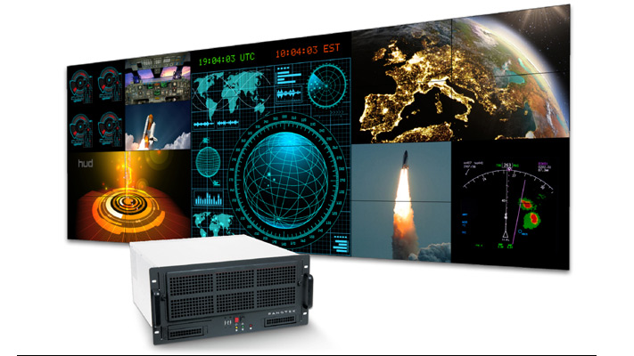 Innovative video wall pixel delivery solutions offered by PanoTek and Matrox.