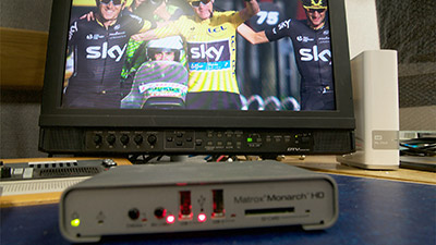 Chris Froome's victory at the 102nd Tour de France race recorded using the Matrox Monarch HD streaming and recording appliance by VSquared TV.
