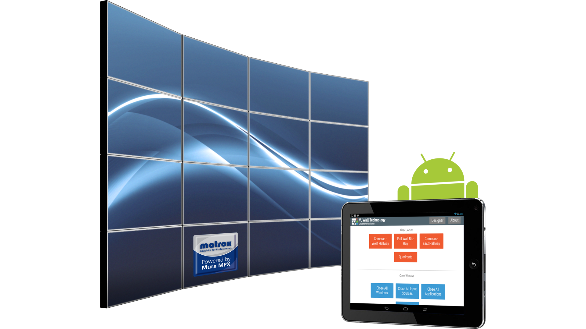 Android App from VuWall Technology Offers New Control Option for Matrox Mura-powered Video Walls